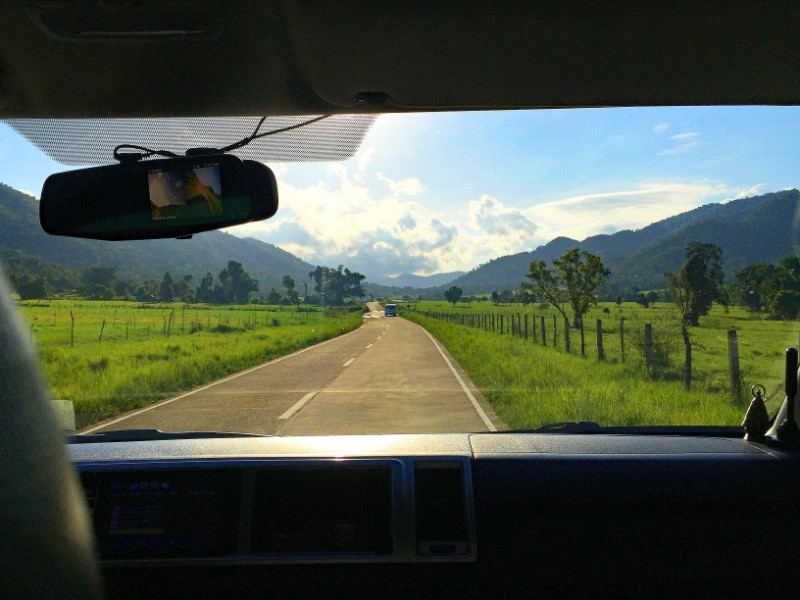 two-way highway from Busuanga Airport to the town of Coron