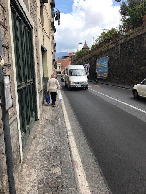 Woman on Narrow Road