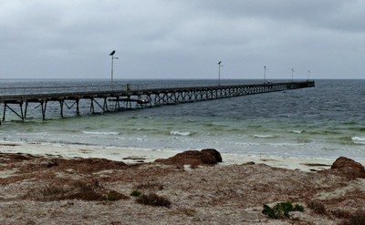 The jetty at Fowler's Bay on a rather blustery day