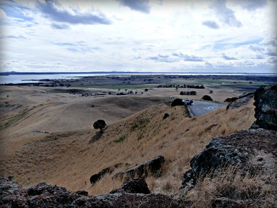 View from Red Rock Lookout towards Lake Corangamite