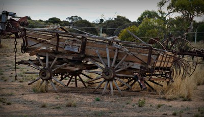 This wagon has seen better days