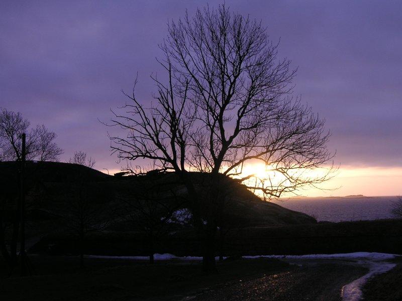 pyhatunturi sunset at 3pm