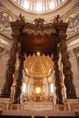 Inside St. Peters Basilica