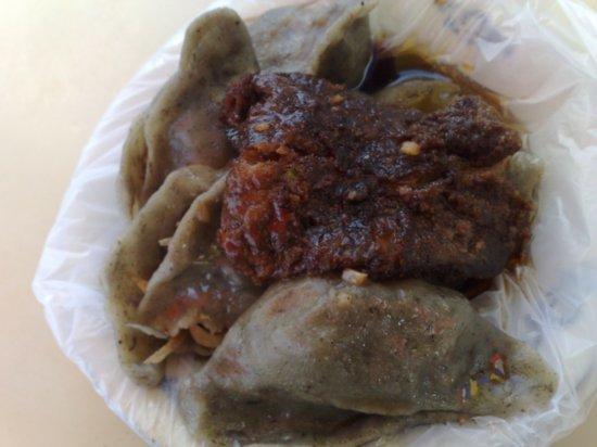 Green Dumplings & Pork Snax