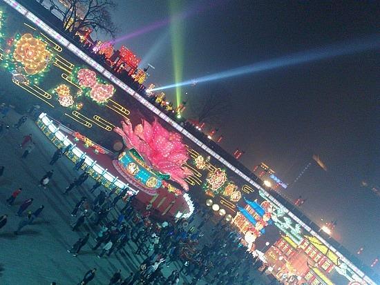The Lantern Festival on the Xian City Walls