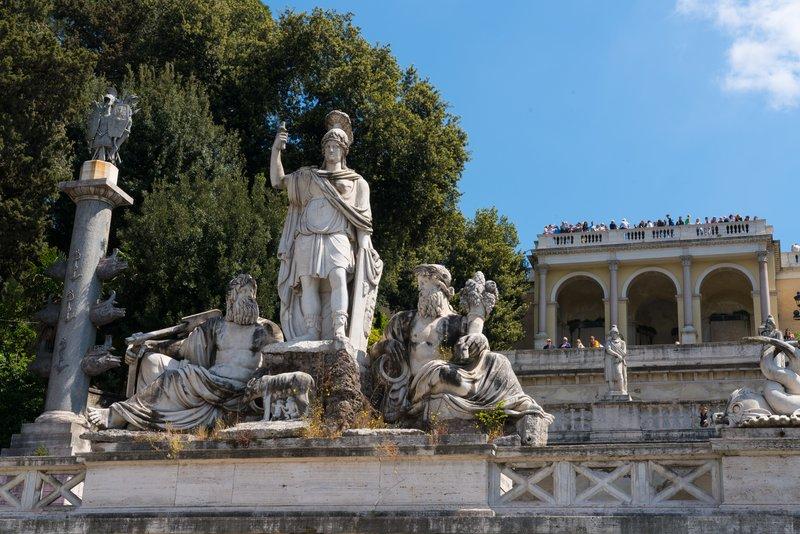 Fountain in Piazza del Popolo