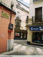 Narrow street of Badajoz
