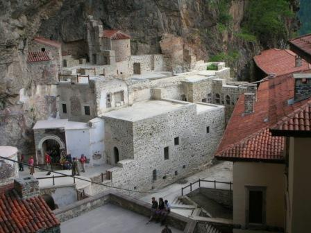 Inside the Sumela Monastery