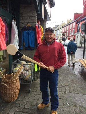 Mick thinking of taking up Hurling - a mix of hockey and AFL it would seem