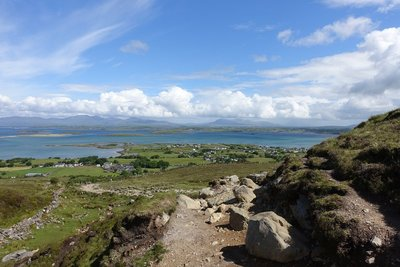 View from up here - Croagh Patrick