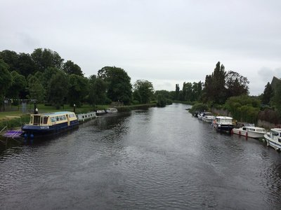 Boats on the River at Athy
