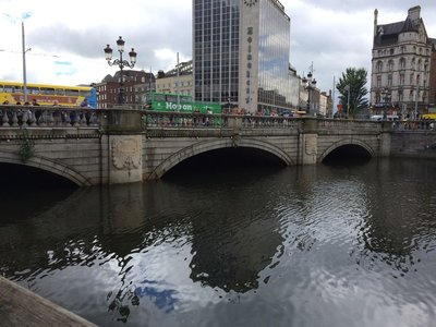 O'Connell's Bridge over the Liffey - we stayed just near this