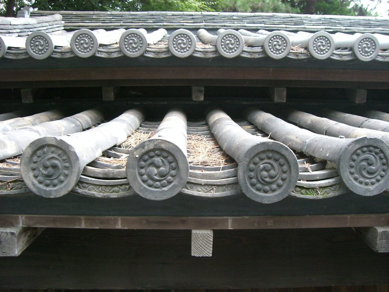 Roof Tiles, Imperial Palace,Tokyo