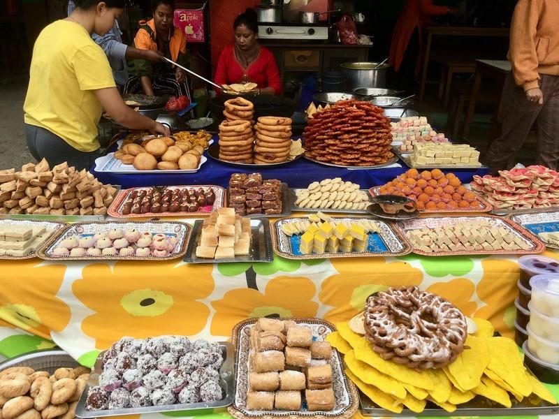 Sweet trader in Budhanilkantha