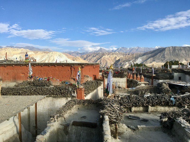 View from the roof over Lo Manthang