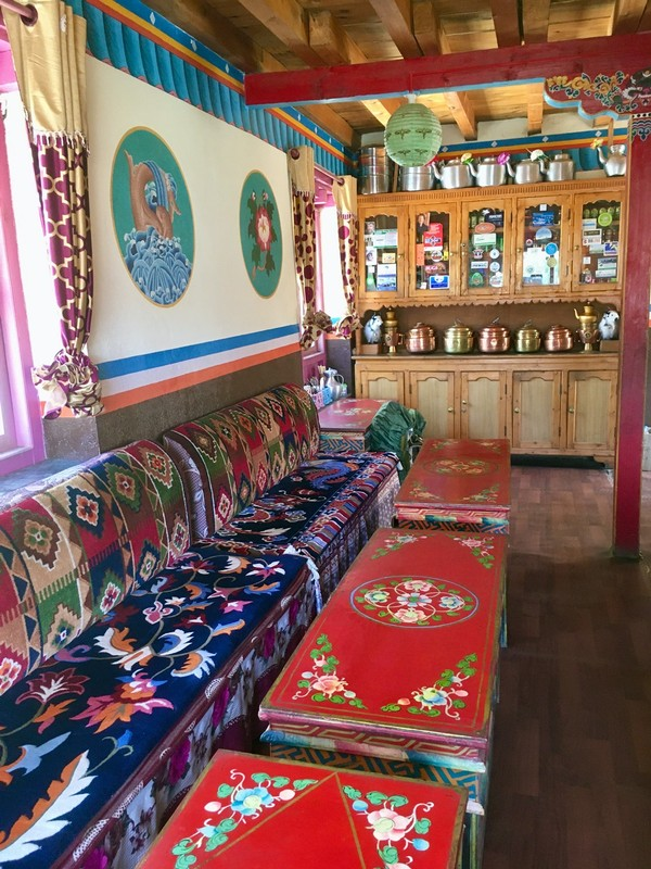 Dining room in our hotel in Lo Manthang