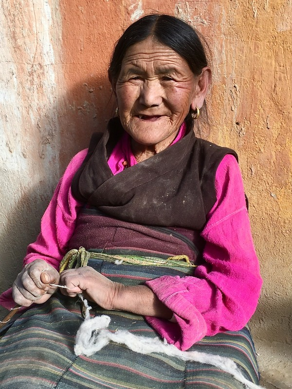 Lady in Lo Manthang