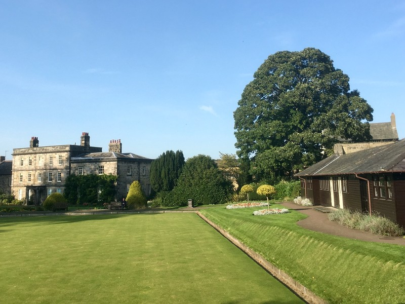 Hexham house and bowling green