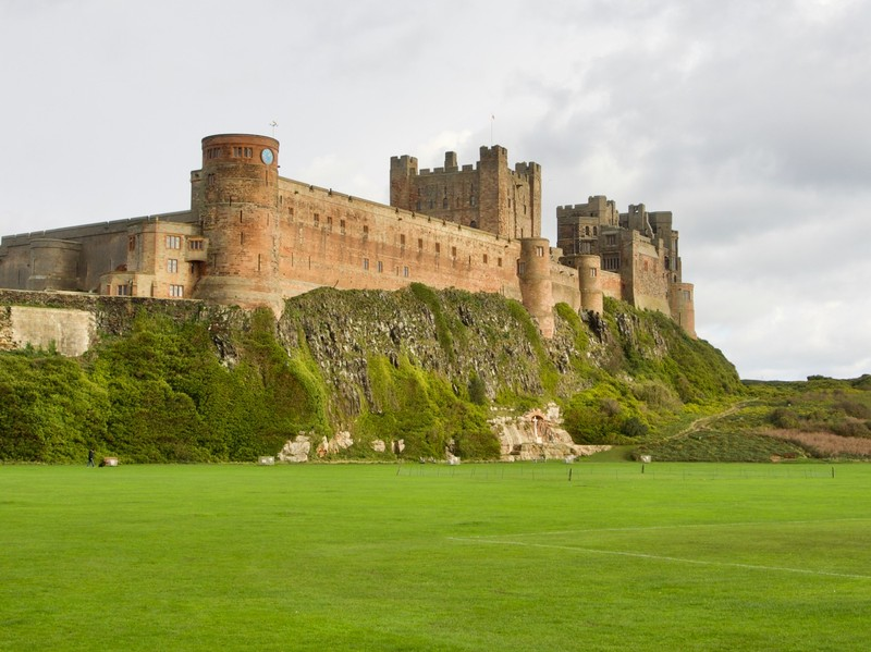 Bamburgh Castle view from the town