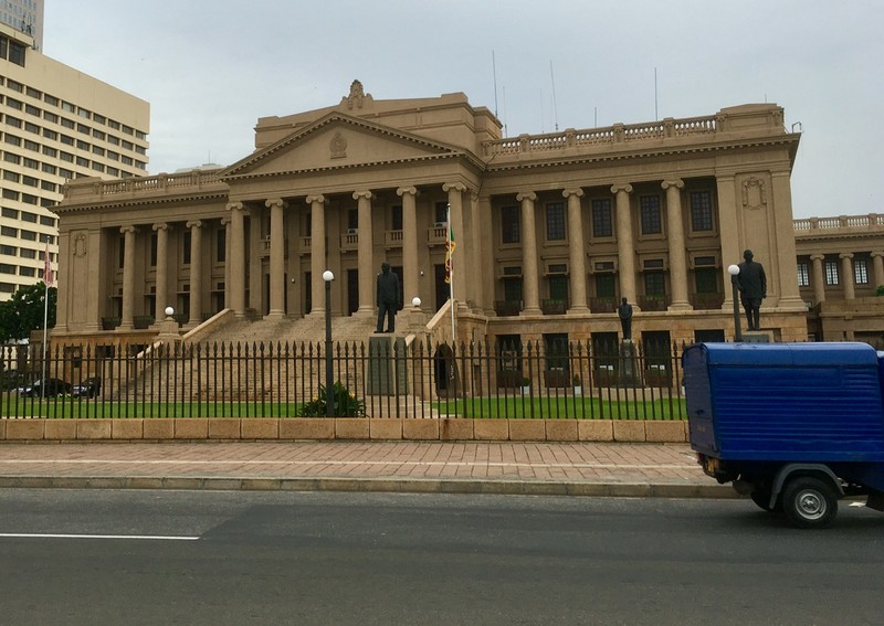 Government building in Colombo where is the president works from