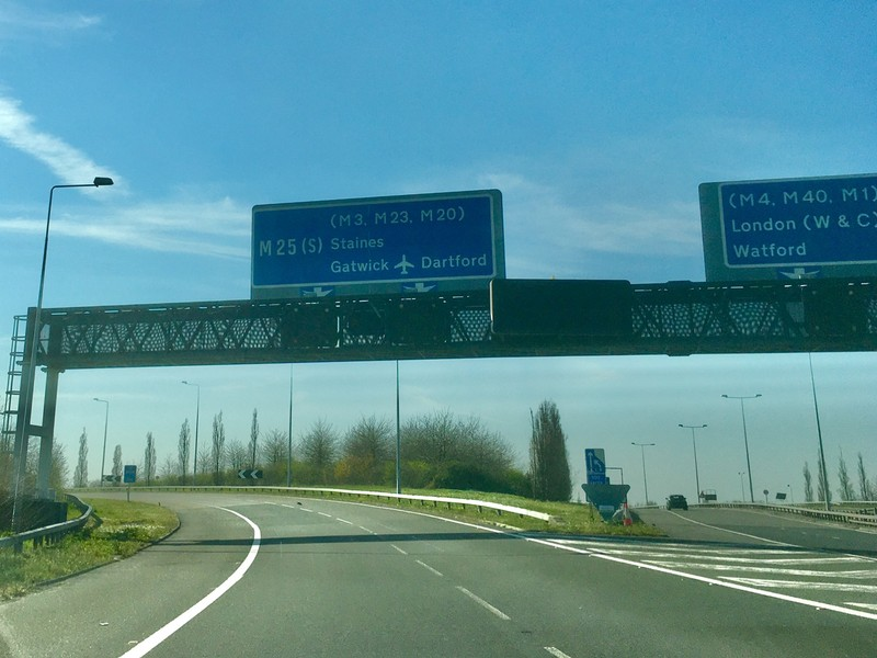 M25 with no traffic, unheard off