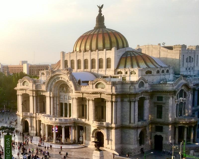 Palacio de Belle Artes from the Torre Latinoamericana