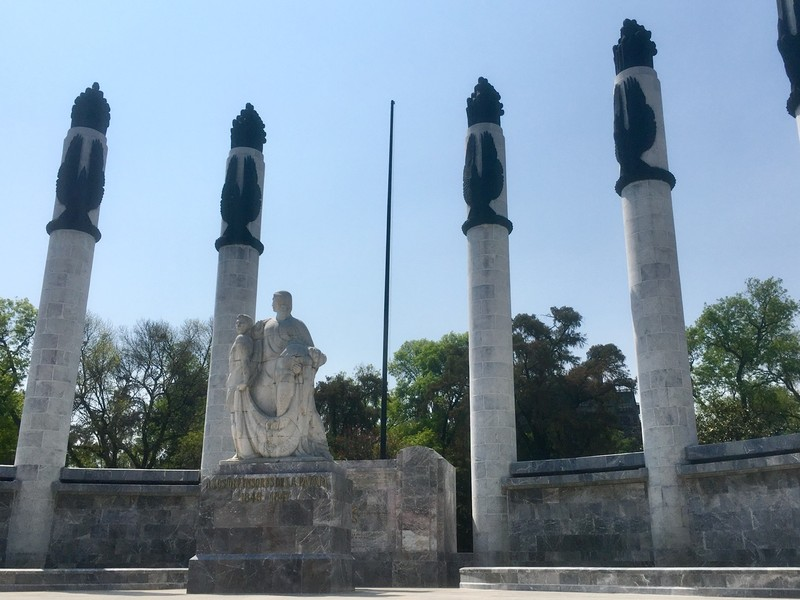 Statues in the Chapultepec Park