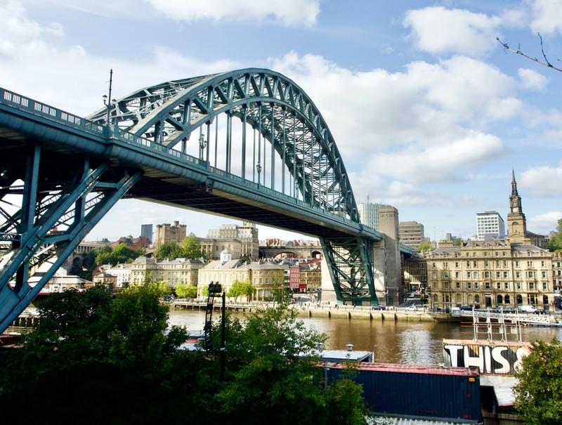 The Tyne Bridge (smaller version of the Sydney Harbour Bridge)