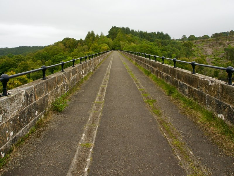 On the top of the viaduct