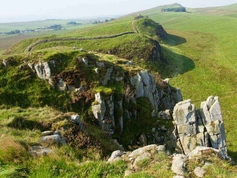 Hadrians wall escarpment