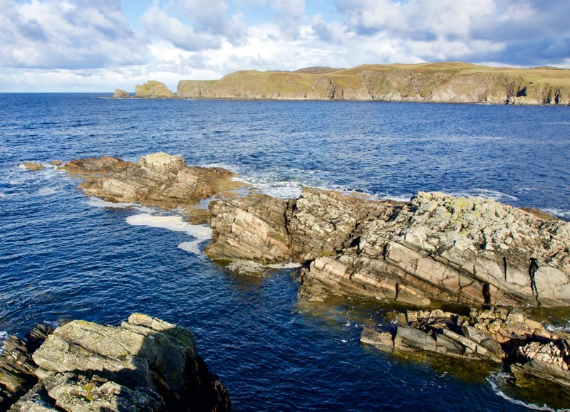 Cliff across Farr Bay