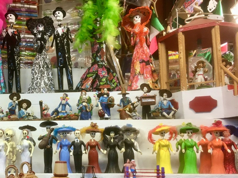Market stall specialising on Day of the Dead