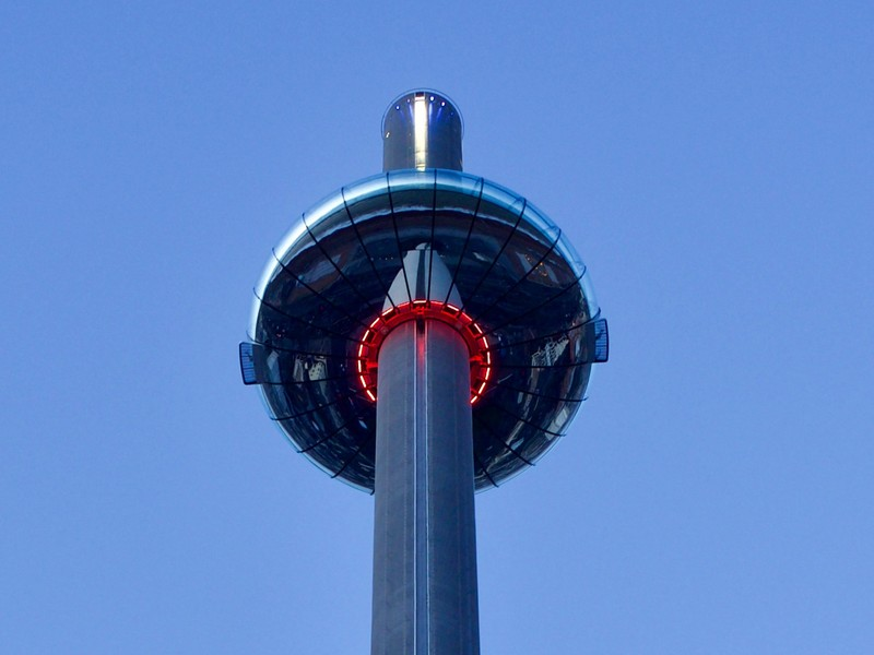 The Donut of the i360, the 360 degree tower dominating the seafront