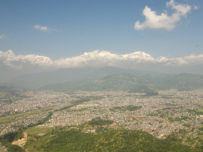 View of Pokhara from the air