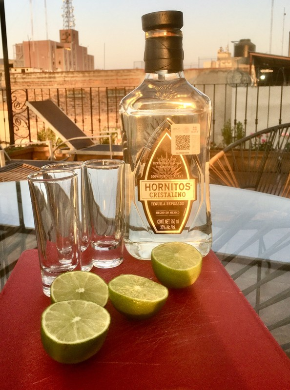 Tequila on the roof terrace
