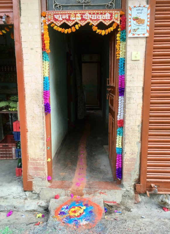 Diwali festival showing the way for good to enter and chase away evil