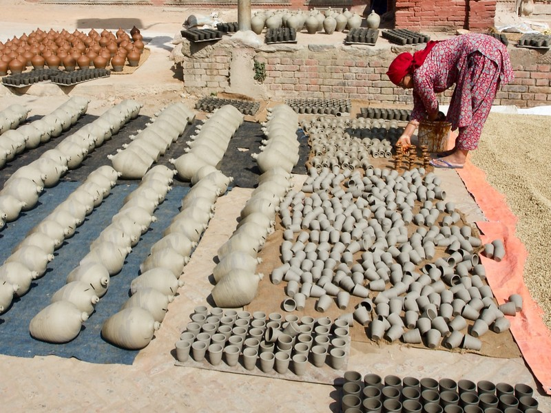 Bhaktapur is famous for it's potery