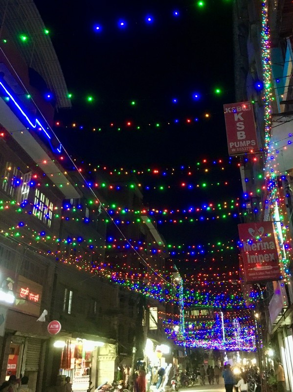 Patan by night during the Diwali Festival, fight of light over darkness