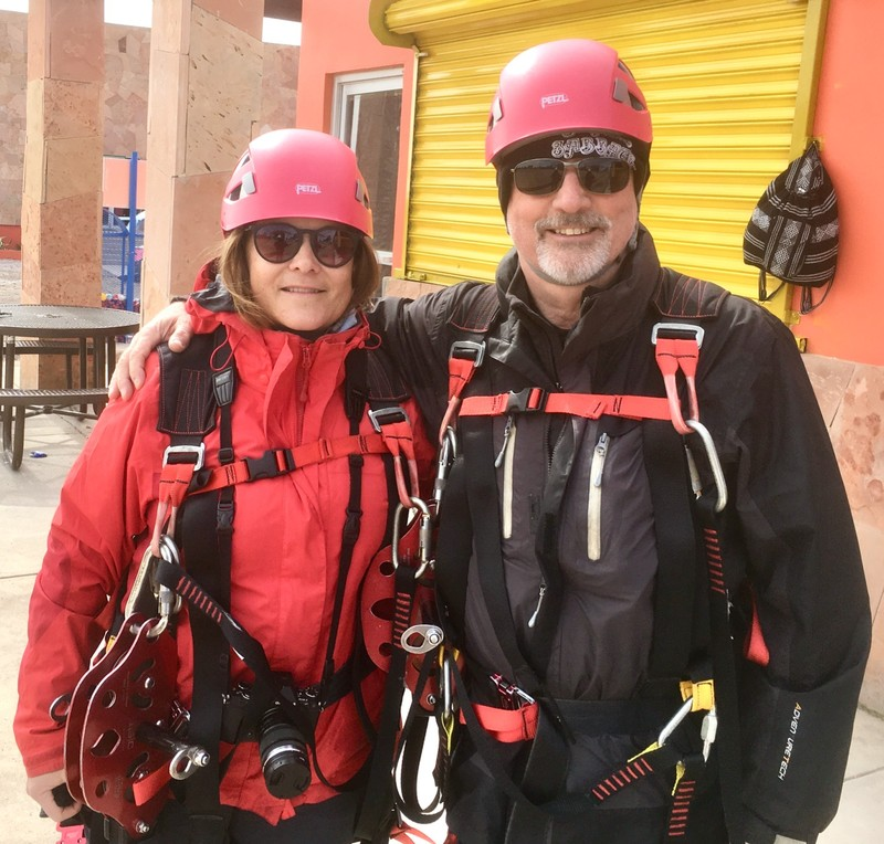 Geared up, ready for the Zip-line