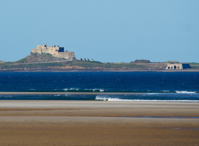 Lindisfarne Castle from Budle bay