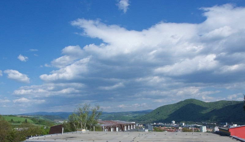View from our balcony in Banská Bystrica
