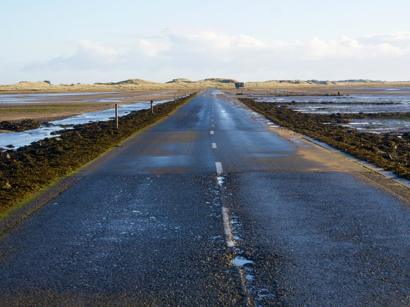 Crossing to Lindisfarne at low tide