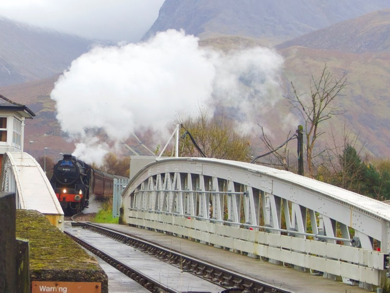 Steam Train leaving Banavie station