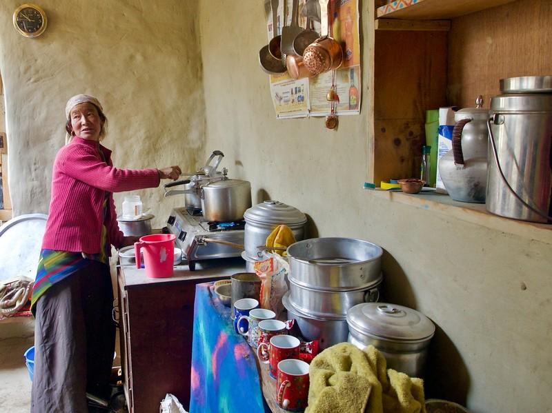 Preparing tea in the kitchen