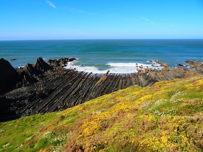 Geological view from the north Devon cliffs