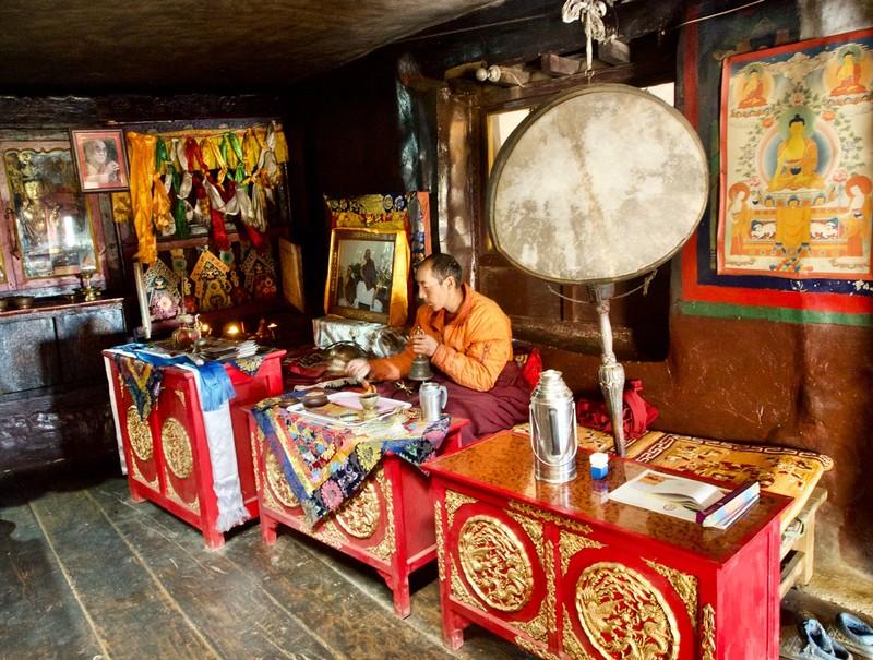 Monk reciting mantra