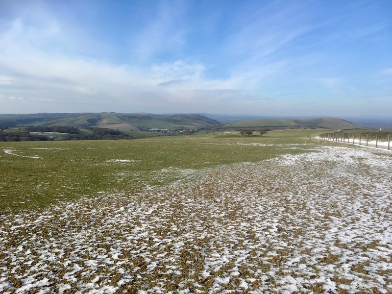 2021 was a cold winter for South of England. Dusting of snow on the South Downs NP