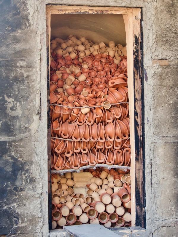 Clay pot storage