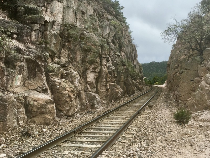 Train track at Barrancas del Cobre