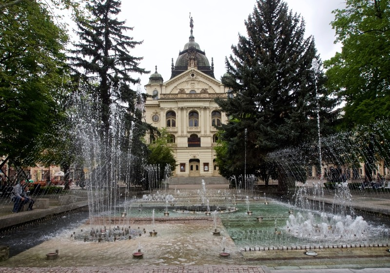 Singing fountain in Košice